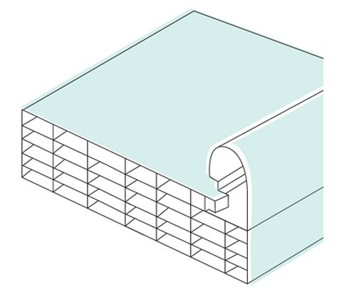 polycarbonate building system connectable