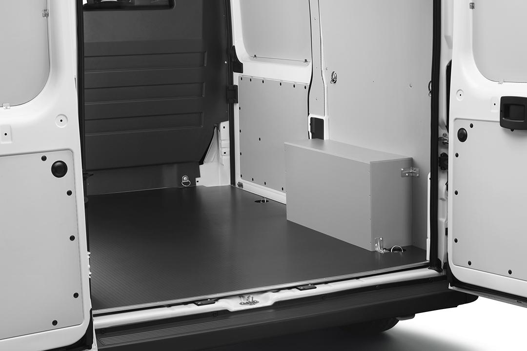 Polypropylene flooring in van