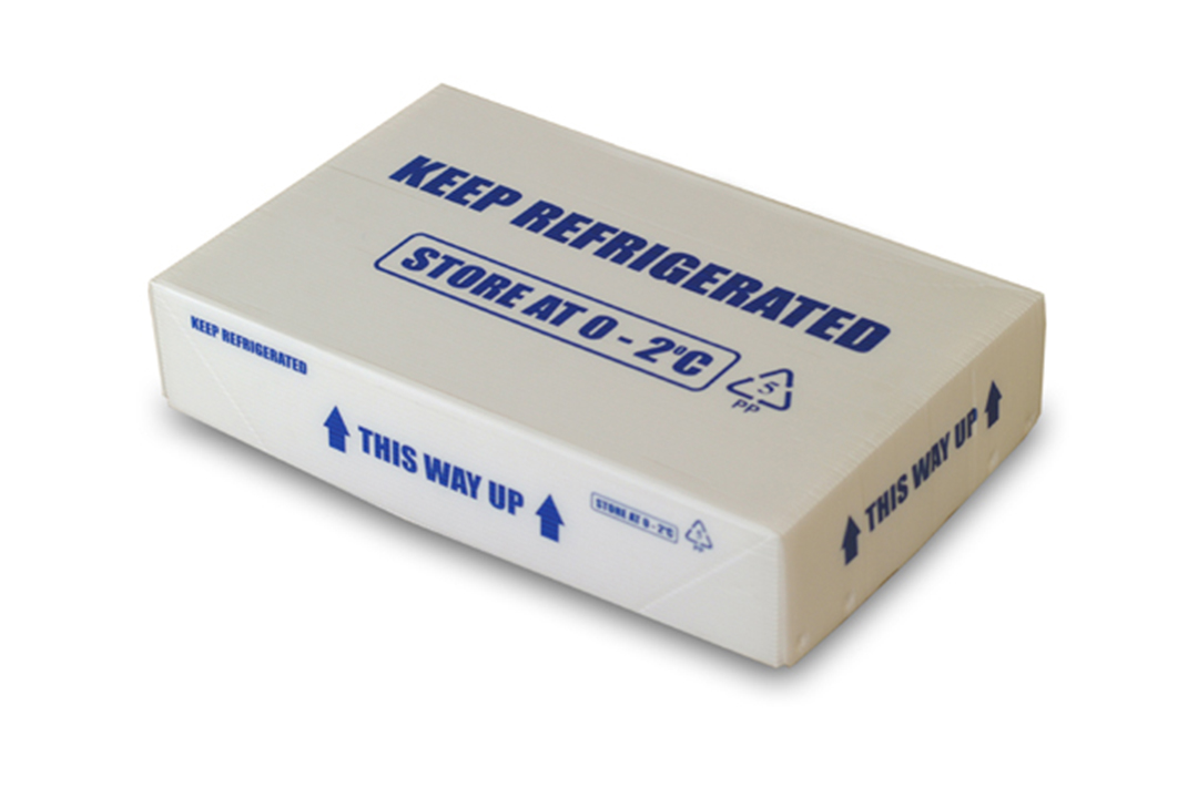 Corrugated polypropylene white box